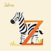 Animal alphabet with zebra