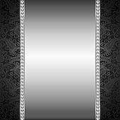 pearl and silver frame