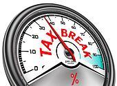 tax break conceptual indicator