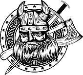 viking board sword and axe
