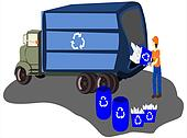recycle truck workers