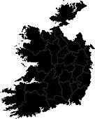 Black Ireland map