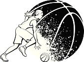 Clip Art Girls Basketball Clipart girls basketball clip art royalty free gograph female dunk design girl with grunge ball