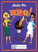 Invitation to a barbecue template.
