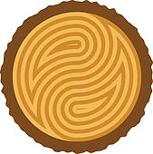 vector wooden log cut