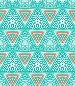 Geometric pattern with triangles and random dots