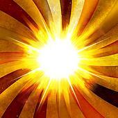 Fiery Radial Burst