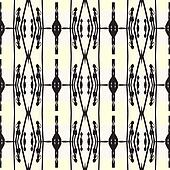 Geometric art deco pattern with thick black lines