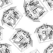 Stylized house pattern