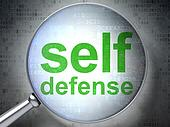 Privacy concept: Self Defense with optical glass