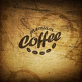 Coffee grunge retro background