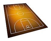 illustration of basketball court.