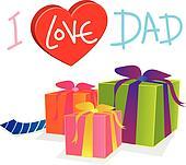 vector gift love dad