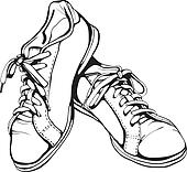 Shabby Running Shoes in Black Ink