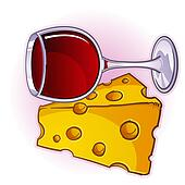 Wine and Cheese Cartoon