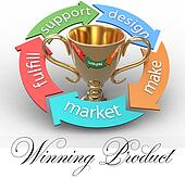 Business product design arrows trophy