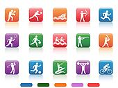 sports people buttons