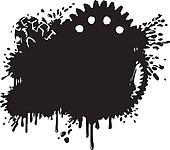 Splatter And Gear Vector Background