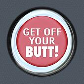 Get Off Your Butt Red Button Physical Activity Exercise