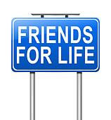 Friends concept.