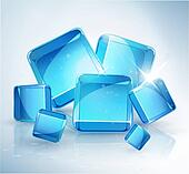 abstract background: ice cubes.