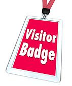 Visitor Badge Tourist Nametag Lanyard Special Temporary Access