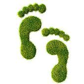 Ecological footprint concept illustration