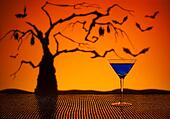 Cobalt Martini in Halloween setting