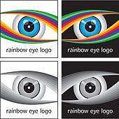 Rainbow Eye Logo Design