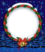 Holly wreath with bells