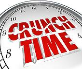 Crunch Time Clock Hurry Rush Deadline Final Moment