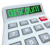 Discount Word Calculator Special Savings Clearance Sale