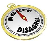 Agree Vs Disagree Words Compass Vote Consensus Decision