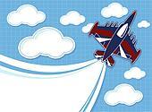 acrobatic jet  cartoon