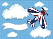 funny airplane cartoon background