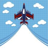 funny acrobatic jet cartoon