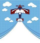 funny acrobatic biplane