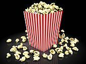 popcorn on a black