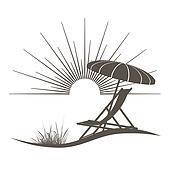 Deckchair Clip Art - Royalty Free - GoGraph
