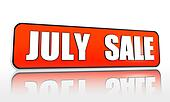 July sale orange banner