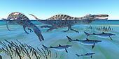 Suchomimus Hunting Fish