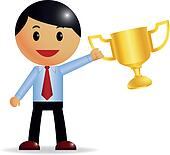 Corporate Guy wins a trophy