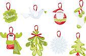 icons on Christmas theme