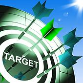 Target On Dartboard Showing Successful Shooting
