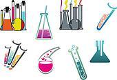 Laboratory and test tubes set