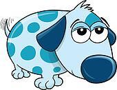 Lazy Puppy Dog Vector Illustration