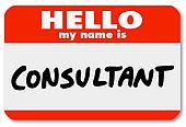 Hello My Name is Consultant Nametag Sticker Badge
