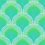 Bold pattern in art deco style in aqua blue
