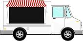 business food bus vector