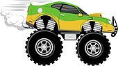 monstertruck race car